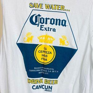 Unisex L Corona Beer White Tank Top
